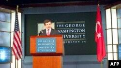 Dışişleri Bakanı Ahmet Davutoğlu George Washıngton Üniversitesi'nde yaptığı konuşmada