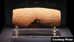 The Cyrus cylinder is believed to contain the world's first declaration of human and religious rights. ©The Trustees of the British Museum