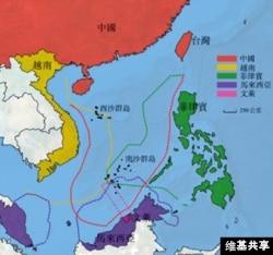南中国海地图