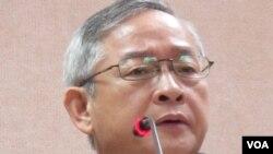台湾执政的国民党立委 林郁方(美国之音张永泰拍摄)