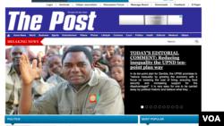 Capture d'écran de la page d'accueil du journal, The Post, le 22 juin 2016.