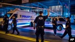 2016年9月17日纽约警方封锁了曼哈顿爆炸现场。