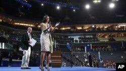 Мишель Обама готовится к выступлению