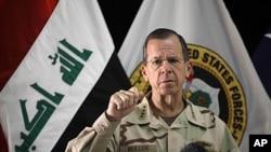 美军参谋长联席会议主席马伦将军8月2日在巴格达记者会上