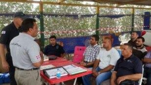 FILE - With U.S. support, personnel from Norwegian People's Aid provides training to Iraqi demining officials [NPA].