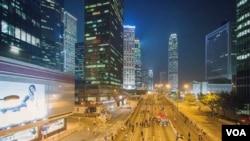香港 (美国之音方正拍摄)