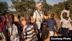 Wasu yara a wani gangamin yaki da cutar polio a arewacin Nijeriya