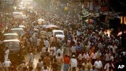 印度人口不斷上升。