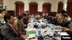 کابل میں پاکستان اور افغانستان کے اعلی سطحی اجلاس کا منظر -3 فروری 2018