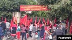 Một trường học ở Ninh Hiệp, ngoai ô Hà Nội
