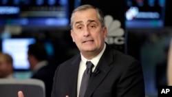 지난 3월 뉴욕증권거래소에서 방송사와 인터뷰하고 있는 브라이언 크러재니치 인텔 최고경영자(CEO).