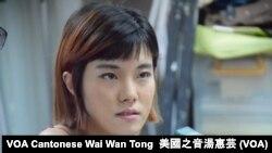 教育實驗學社傳媒聯絡人黃子悅 (攝影:美國之音湯惠芸)