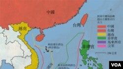南中国海主权争议地图