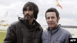 兩名重獲自由的西班牙記者