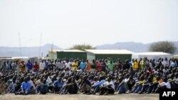 Des mineurs grévistes de Marikana