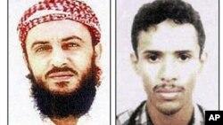 Jamal Ahmed Mohammed Ali al-Badawi (kiri) dan Fahd Al-Quso dicari atas tuduhan serangan atas kapal USS Cole yang menewaskan 17 tentara AS tahun 2000 (Foto: dok). Quso diberitakan telah tewas dalam serangan udara AS di Yaman, Minggu (6/5).