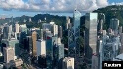 2019年7月25日的香港金融区鸟瞰