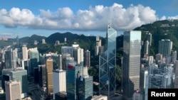 2019年7月25日的香港金融區上游