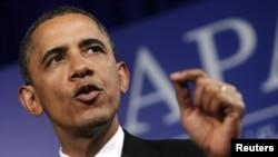 美國總統奧巴馬周三出席亞太裔組織舉行活動,並發表講話。