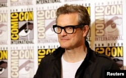"Cast member Colin Firth poses at a press line for ""Kingsman: The Golden Circle"" during the 2017 Comic-Con International Convention in San Diego, California, July 20, 2017."