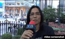 James F Sundah saat diwawancarai VOA d New York, USA. (Foto: VOA/videoscreenshot)