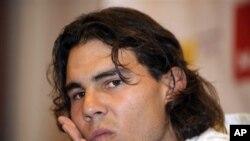 Rafael Nadal mundur dari turnamen Grand Slam Amerika Terbuka akibat cedera lutut (foto: dok.).