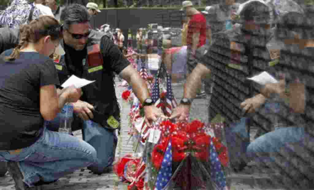 El muro de los caidos en la guerra de Vietnam, es uno de los sitios más visitados en Washington.
