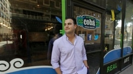 Arnulfo Ventura, co-founder of Coba, a Mexican beverage company, outside in his office and art gallery in downtown Los Angeles, Oct. 16, 2012.