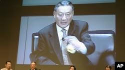 大陆海协会原副会长唐树备在论坛上发言