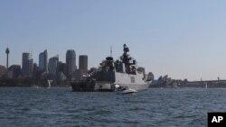 Tàu hải quân Ấn Độ INS Sahyadri. Con tàu lớp Shvalik đang thực hiện nhiệm vụ 'bố trí vận hành' ở Biển Đông và Tây Bắc Thái Bình Dương.