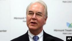 사임한 톰 프라이스 보건후생부 장관.
