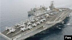 Iran merilis foto kapal induk Amerika yang berada di Teluk Persia, USS Harry S. Truman (foto: dok).
