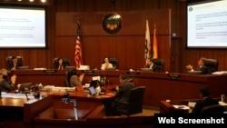 Một buổi họp của Hội đồng Quận Cam, bang California. Photo OCgov.com