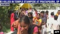 Hình ảnh video hiện trường sau vụ giẫm đạp tại một ngôi đền ở Pratapgarh