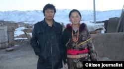 10月26日在甘肃省夏河县自焚的拉莫德森与他的妻子(Citizen Journalist)
