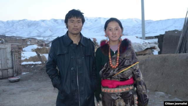 This citizen journalist photograph shows Lhamo Tseten, who self-immolated, October 26, 2012, in Sangchu county, and his wife Tsering Lhamo.