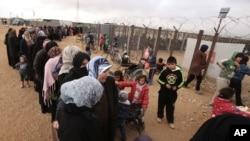 Le camp de réfugiés de Zaatari, situé en Jordanie à l'est de Mafraq, est composé de réfugiés syriens fuyant la guerre civile syrienne. (20 janvier 2016)