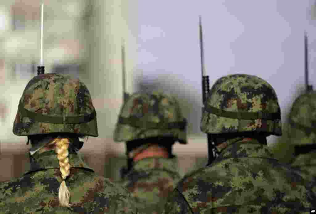 Сербия. Церемония по случаю годовщины окончания Второй мировой войны