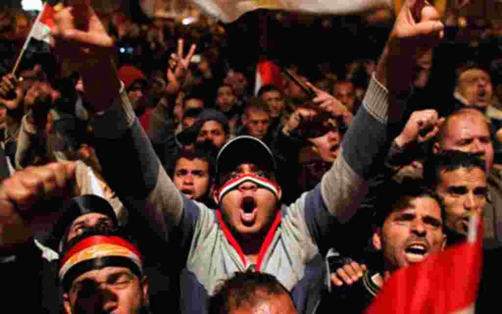 Hoy sí, los manifestantes pueden celebrar 'el día de la salida' de Mubarak.