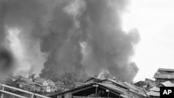 Hình minh họa một thời điểm trong cuộc chiến Việt Nam ở thành phố Sài Gòn.