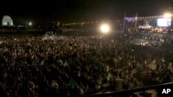 پرویز مشرف نے دبئی سے ویڈیو فون کے ذریعے کراچی میں جلسے سے خطاب کیا۔