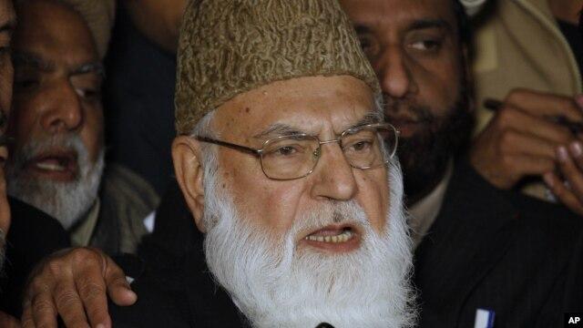 Học giả Hồi giáo nổi tiếng của Pakistan Qazi Hussain Ahmed.