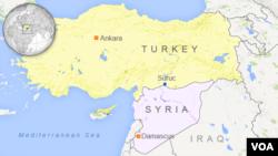 土耳其與敘利亞位置圖