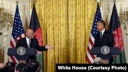 Барак Обама с президентом Афганистана Ашрафом Гани