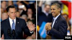 미트 롬니 공화당 대통령 후보(왼쪽)과 바락 오바마 대통령.