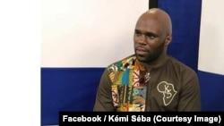 Le militant de la cause noire Kémi Séba, Français d'origine béninoise, dans une publiée après son expulsion de la Guinée, 3 mars 2018. (Facebook/Kémi Séba)