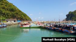 Kawasan wisata Pantai Sadeng, Gunungkidul, DIY, yang sepi di masa pandemi. (Foto: VOA/Nurhadi Sucahyo)