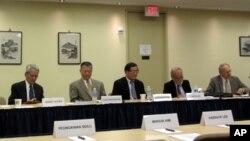 한-미경제연구소(KEI)가 15일 주최한 북한 문제 세미나에 참석한 관계자들