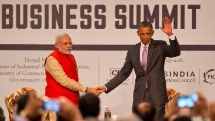 美国总统奥巴马和印度总理莫迪