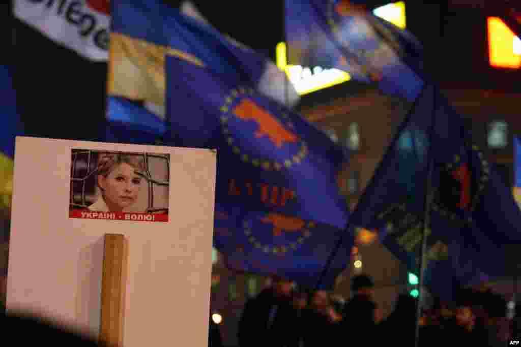 Отличия нынешнего Дня свободы - символика БЮТ и призывы освободить опального премьер-министра